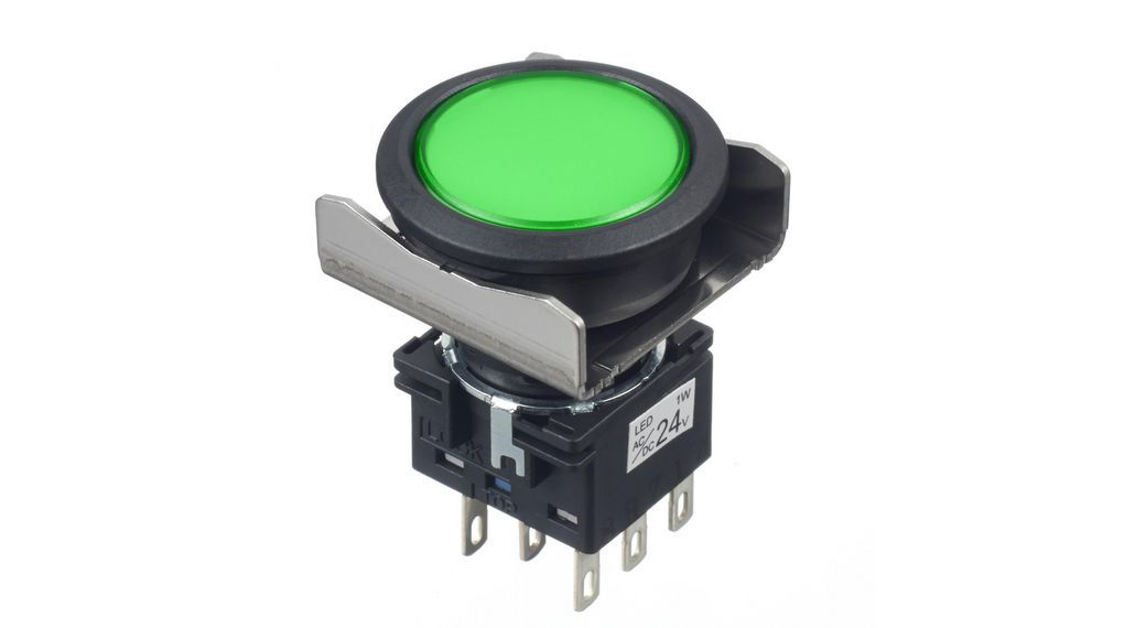 Buy Pilot Light Green 22 mm 24 V