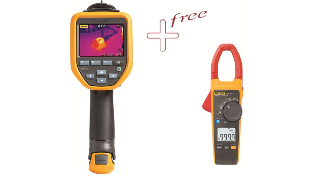 Thermal Imager, -20     550 °C with Free Fluke-376 FC Clamp meter