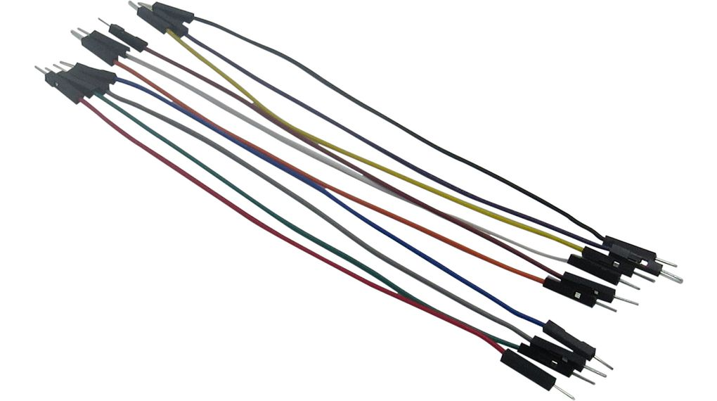 Buy Jumper Wire, Male to Male, Pack of 10 pieces, 150 mm, Multicoloured