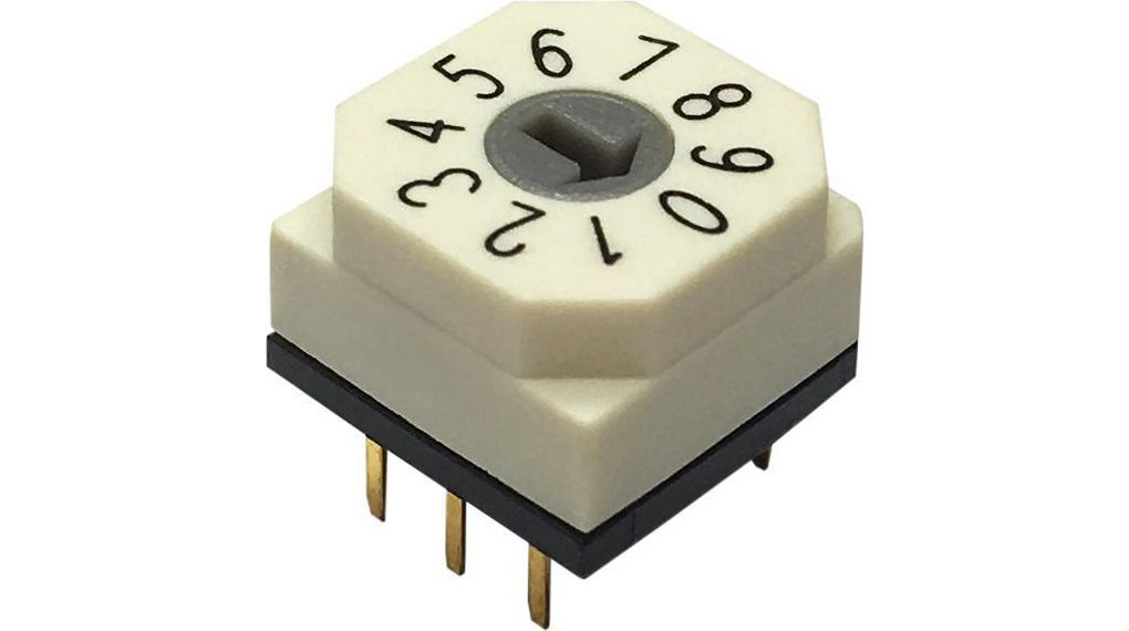 RND 210-00107 Rotary DIP Switch BCD 3+2 RND Components