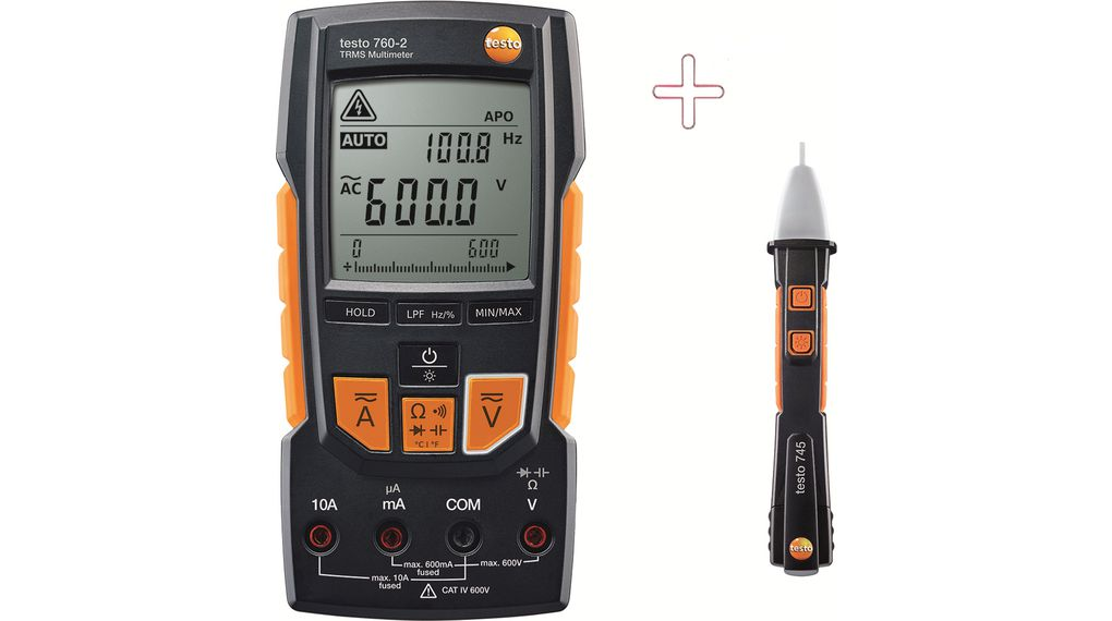 Buy Multimeter digital with Non-contact Voltage Tester TRMS AC + DC 600 VAC
