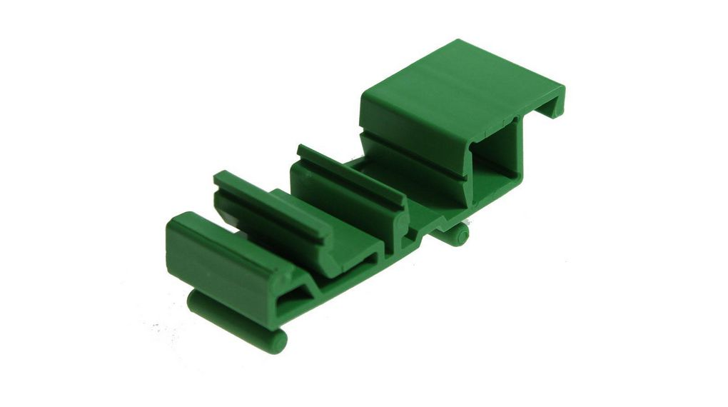Buy Mini DIN Rail Support Foot Element 18x22x82mm Green Polyamide IP20