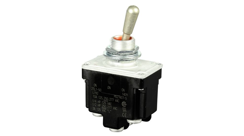 3A BLK BUSHING MOUNT Pushbutton Switches DPDT ON- ON