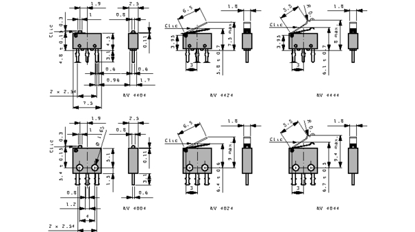 1 X AV4444 Microswitch SNAP ACTION; with lever with roller simulation
