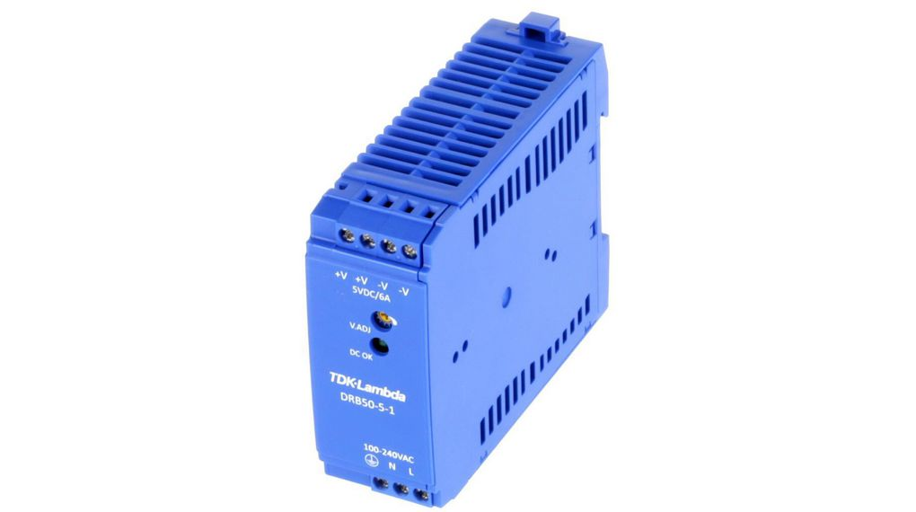 Buy DIN Rail Power Supply, 5V, 6A, 30W, Adjustable