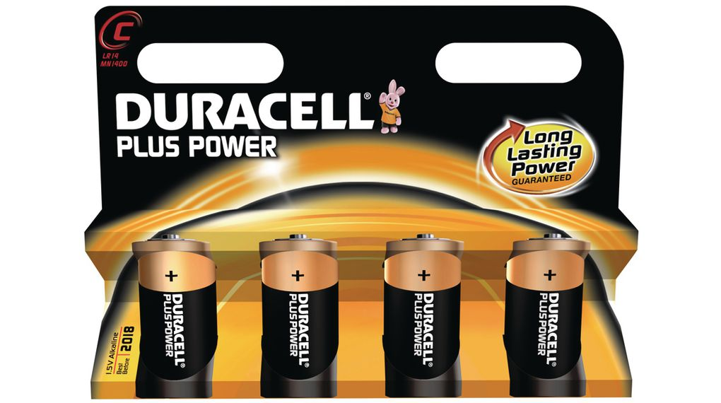 Plus Power C Primary Battery Alkaline 15v C Lr14 Pack Of 4