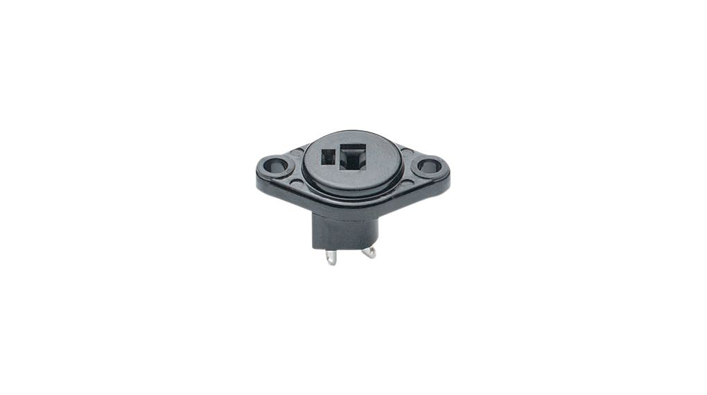 Buy Female panel connector Black 2 Poles