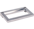Buy Collapsible handle 121 mm x 15.5 mm x 75 mm, 1000 N 121mm Aluminium/Silicone/Zinc-Plated Steel Silver