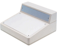 Buy Sloping Console Enclosure Grey White  228 x 216 x 126 mm PS (UL 94 HB)