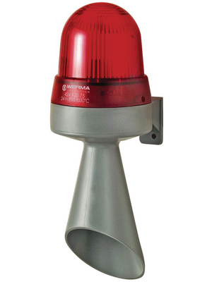 424 120 75,LED/horn combination/wall-mounted red