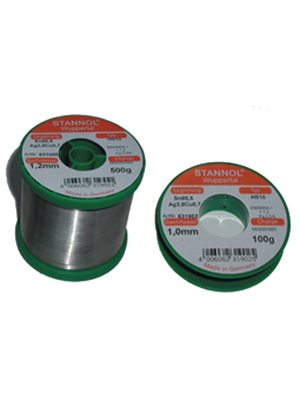 TSC HS10, 631955,Solder wire Sn95/Ag4/Cu1 500g 1.2mm
